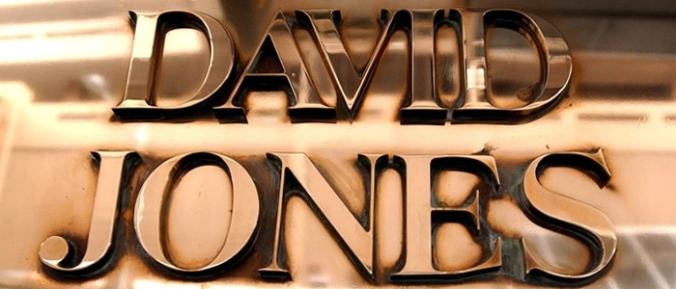 David Jones nameplate